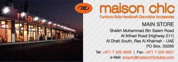 Maison Chic Gazebo store location in UAE-Dubai-RAK