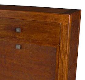53968 Shoe Cabinet 2 Drawers 4 Racks 113x20x105cm