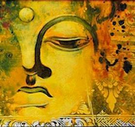 HPC286 Buddha Face 90x3x30 cm