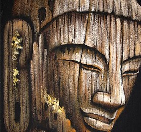 HPC399 Buddha Antique Face 100x150 cm