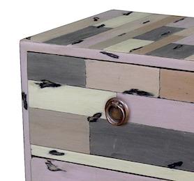 PLY45G Cube Grey 2 Drawers 40x34x40cm