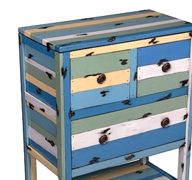 PLY51 Casual Table 3 Drawers 60x31x80cm
